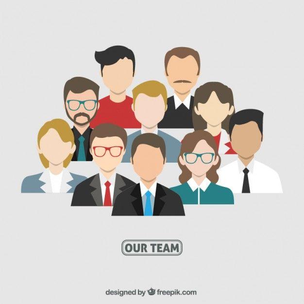 Business team avatars Free Vector