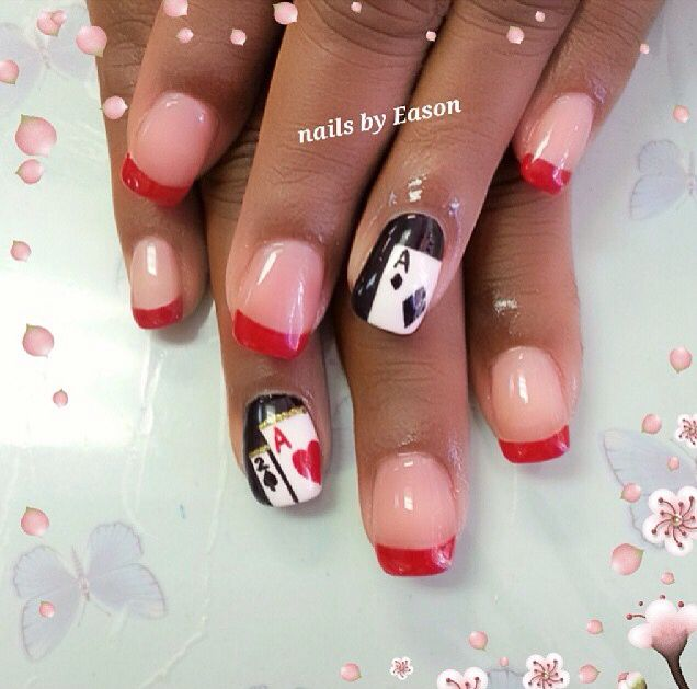 31 best casino nails images on pinterest beautiful enamels and poker nails prinsesfo Gallery