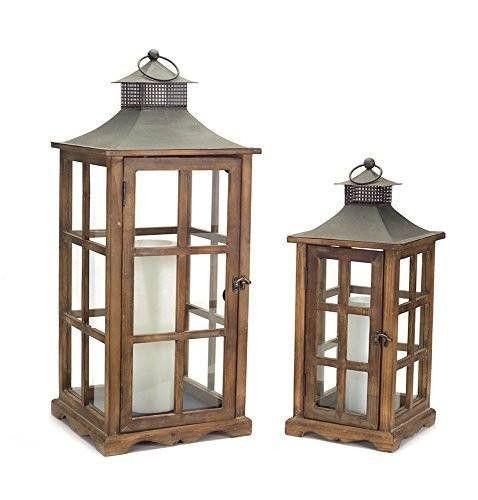 Craftsman Metal & Wood Candle Lanterns