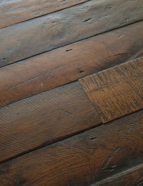 Antique French oak, pulled from actual wood flooring installed in French homes and farmhouses. From large country house boards to refined Parisian small planks, each piece is carefully selected to be stunning in your home. By Exquisite Surfaces.