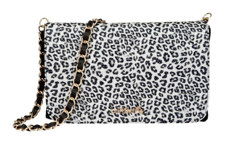 GET THE LOOK - Pair our Milan Clutch in metallic black with our Snow Leopard TrendStyler™