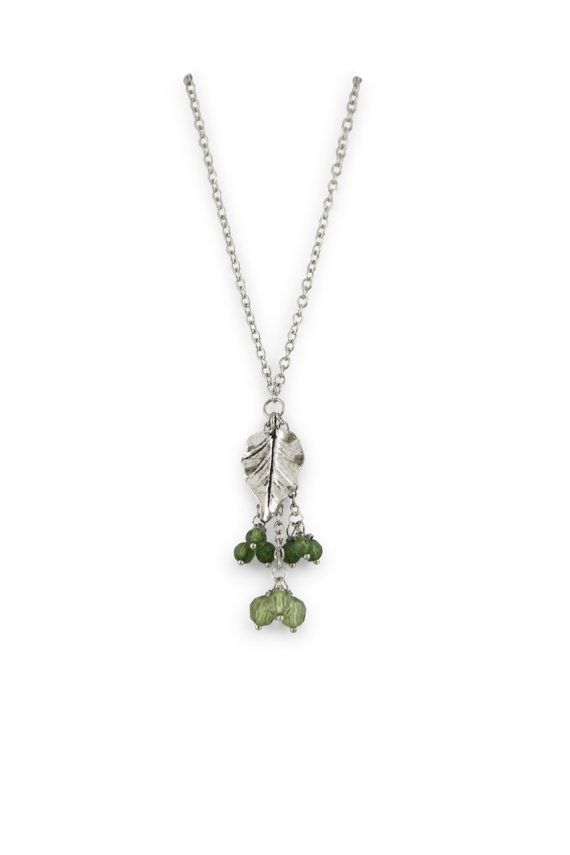 Leaf necklace - gorgeous greens