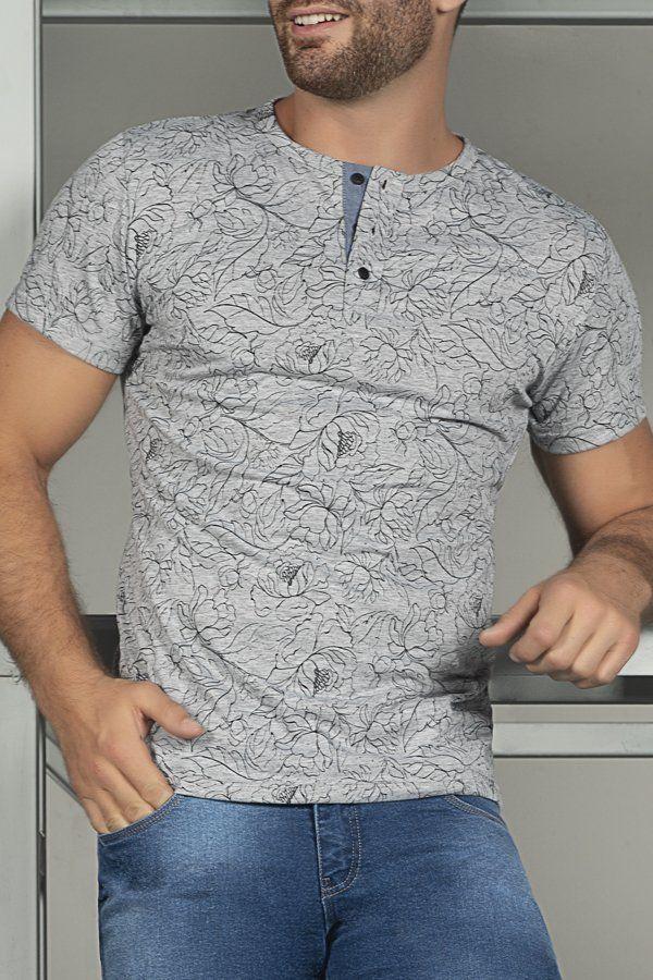 ddcc258a1cbb CAMISETA GRIS CLARA ESTAMPADA | ropa ecuador palet | Ropa, Camiseta ...