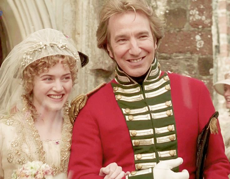Kate Winslet (Marianne Dashwood) & Alan Rickman (Colonel Christopher Brandon) - Sense and Sensibility (1995) #janeausten #anglee