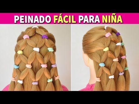 So beautiful!!!!Peinados Faciles y Rapidos y Bonitos con Trenzas para Niña - Recogidos para Fiestas cabello largo - YouTube