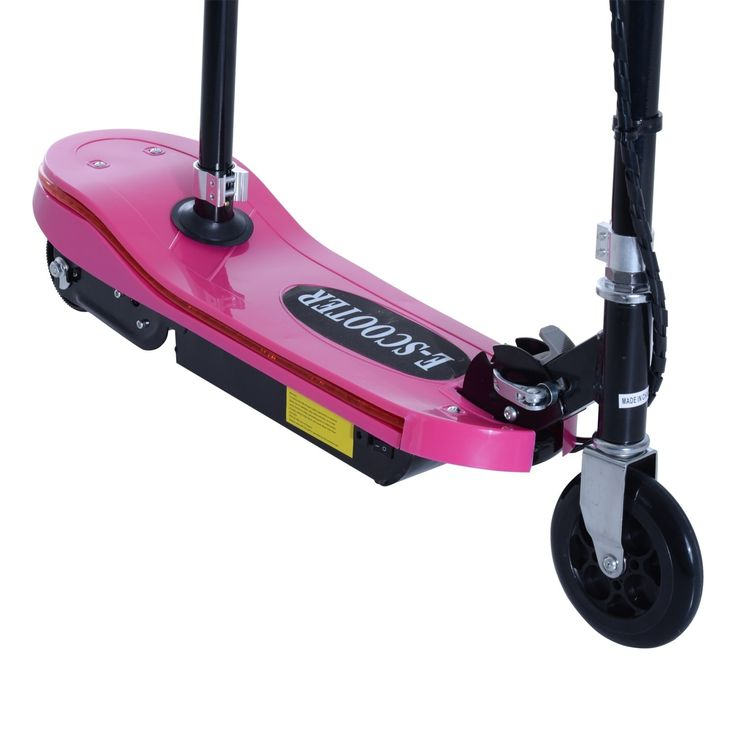 Aosom 120W Kids Folding Electric Scooter with Seat and LED Lights -