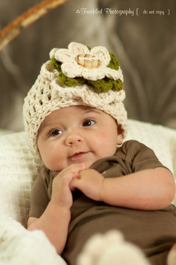 Beautiful Flower Crocheted hat.