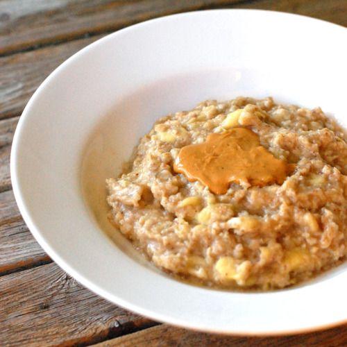 oatmeal: peanut butter, bananas, brown sugar, flax