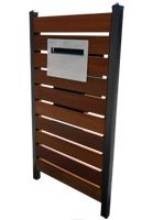 The Plazo Letterbox with Timber Panel