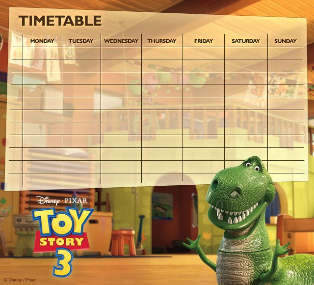 Toy Story Timetables 06