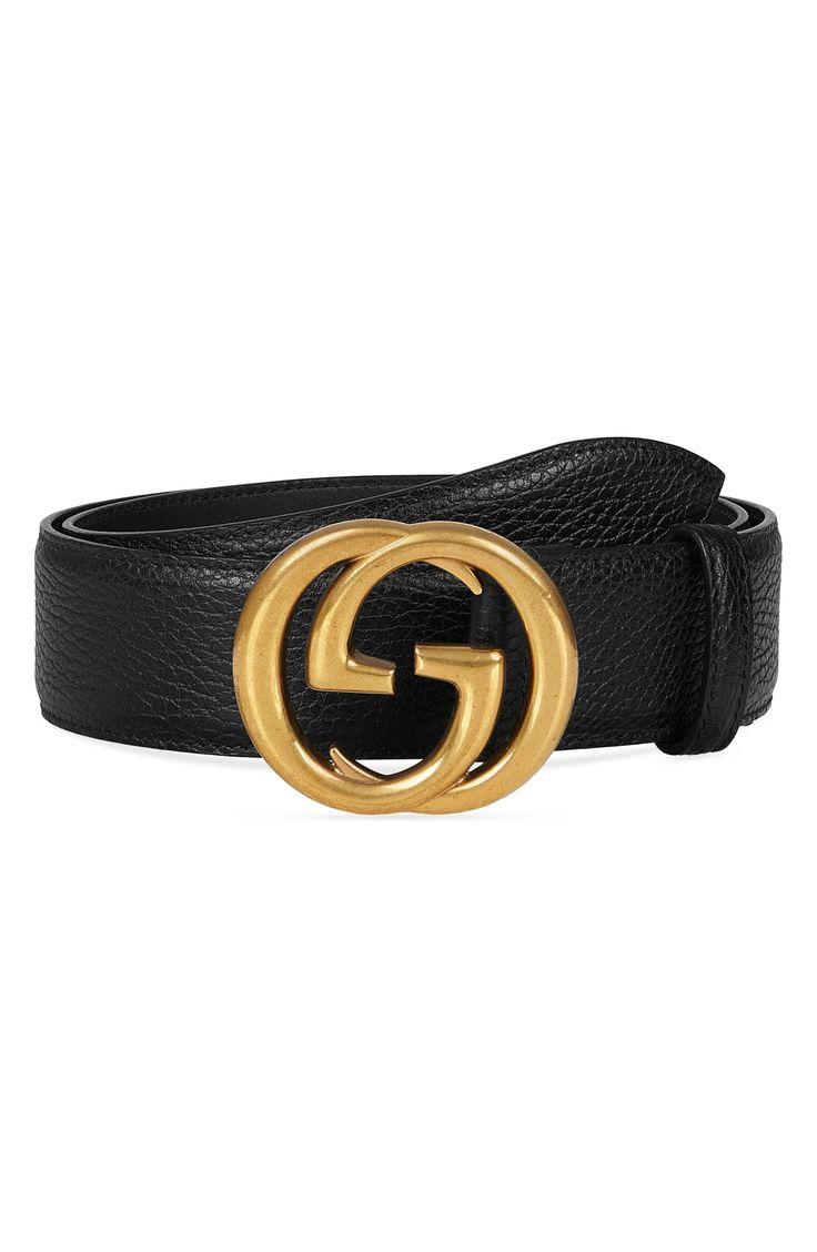 Men's Big & Tall Gucci InterlockingG Calfskin Leather