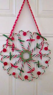 Welcome to Scrappin' Cat's Creative Endeavors: Candy cane wreath