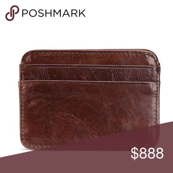 Just in – Leather credit card holder money brown Style: Card Pack Material: firs…