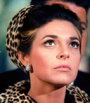 Anne Bancroft as Mrs. Robinson in The Graduate (1967).