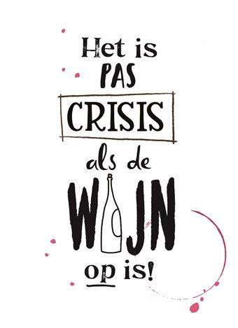 #crisis #wijn
