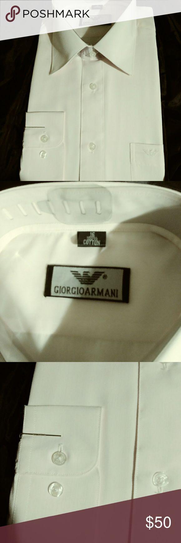 New Giorgio Armani size 16 pink shirt. Giorgio Armana size 16 mens shirt.  Long sleeve. Light Pink. Giorgio Armani Shirts Dress Shirts