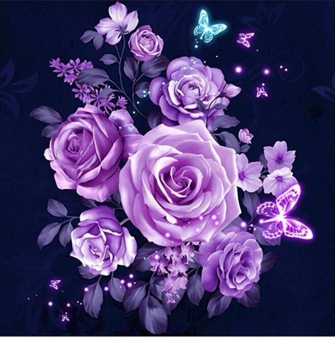 Starry Night Lavender Dazzle With Images Purple Roses Purple