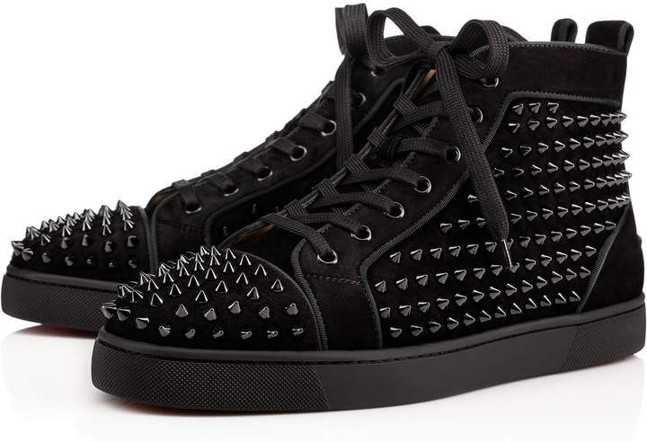 run shoes multiple colors nice cheap LOUIS ORLATO Black Suede - Men Shoes - Christian Louboutin ...