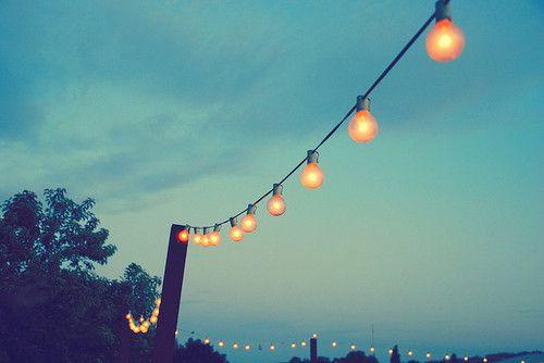 Italian bistro lights.