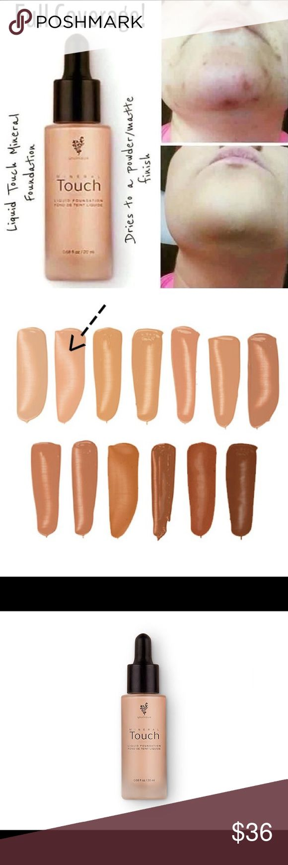 Touch Mineral Liquid Foundation By Younique Youniques Popular Touch Mineral Liquid Foundation In the color Organza. Younique  Makeup Foundation
