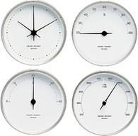 Georg Jensen Henning Koppel Weatherstation Set Steel/White - Clocks