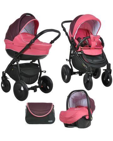 Tutis Zippy Orbit бордово-розовая  — 29400р. ------------------- Коляска 3 в 1 Tutis Zippy Orbit бордово-розовая - это транспортная система для детей от рождения до 3 лет. В комплект входят шасси, люлька, прогулочное сиденье, автокресло, дождевик, москитная сетка, сумка для мамы.