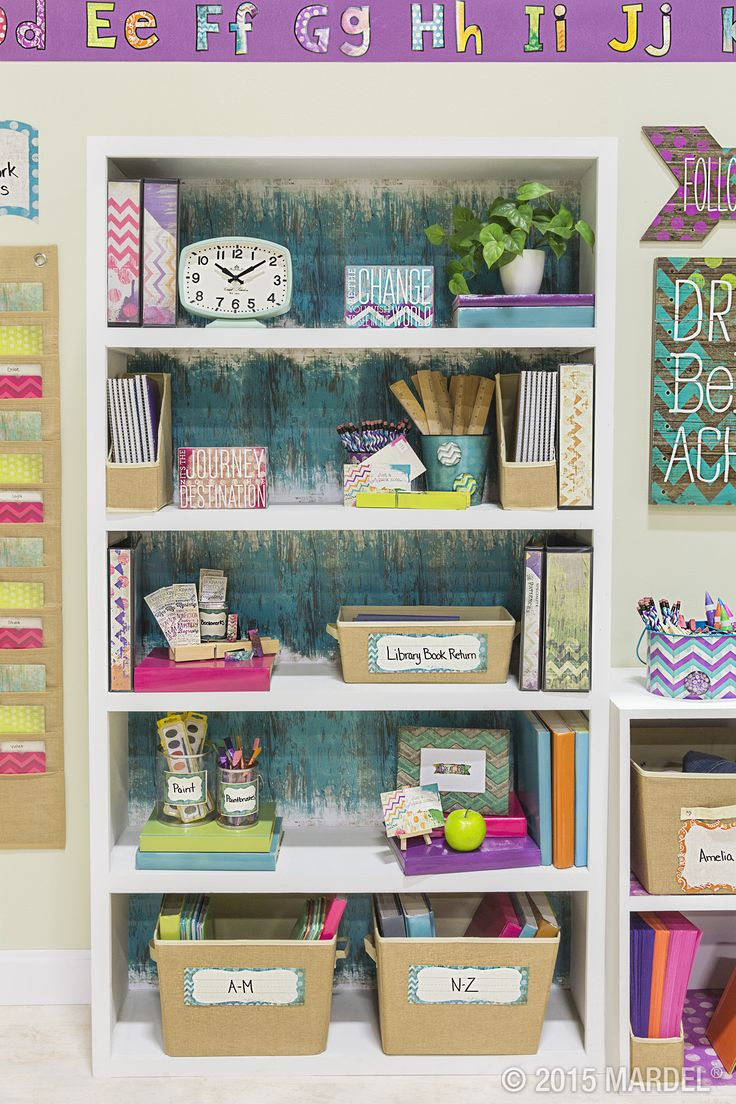 "Retro Chic Classroom Décor - Inspired by the sweet shades and pleasant patterns of eras gone by, our exclusive Retro Chic collection combines the best of vintage charm with a modern, shabby chic flair. Designed to give off a weathered, ""worn-in"" feel, each piece in this collection exudes the undeniable charm of a favorite flea-market find. #classroom #teachers"