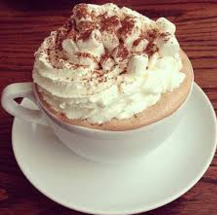 Whipped cream and cinnamon