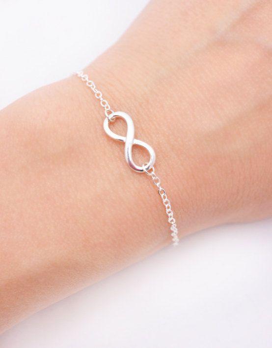 Infinity bracelet Bracelet Bridal by BarakaCustomJewelry on Etsy