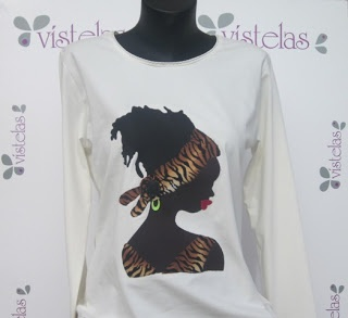 Camiseta Africana. VISTELAS