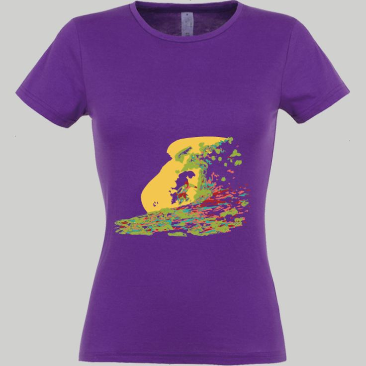 surfing; t-shirt unisex, woman, child, 9 colors, several sizes; shipping worldwide; 17€ + shipping rates