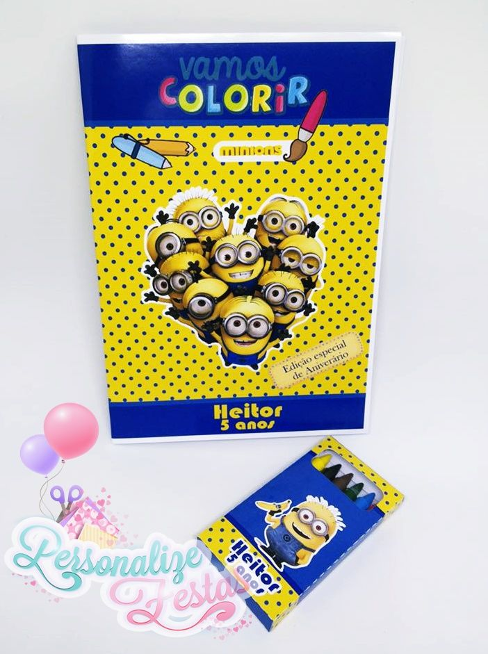 Kit Colorir Minions #Minions #KitColorir