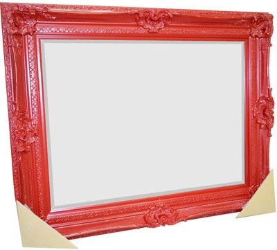 Gorgeous Red Framed Bevelled Mirror 1270 x 1575 – $950.00  1270 x 2185 – $1199.00