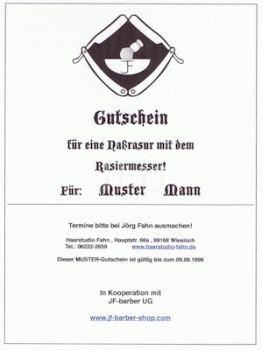 Gutschein - Nassrasur