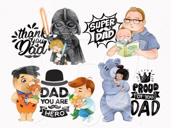 Fathers Day Clipart Set 2 Dad Clipart Instant Download Png Etsy In 2021 Clip Art Cute Clipart Instant Download Etsy