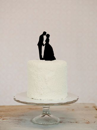 Custom Silhouette Wedding Cake Topper in Acrylic made from your photos by