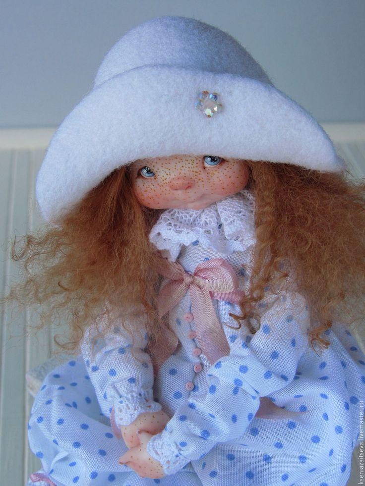 Купить Вайти - белый, куклы ксении зайцевой, коллекционная кукла, авторская кукла, кудрявая кукла