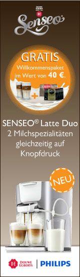 Wir sind dabei und dürfen die neue SENSEO LATTE DUO testen!!!!!   produkttesterhaushalt