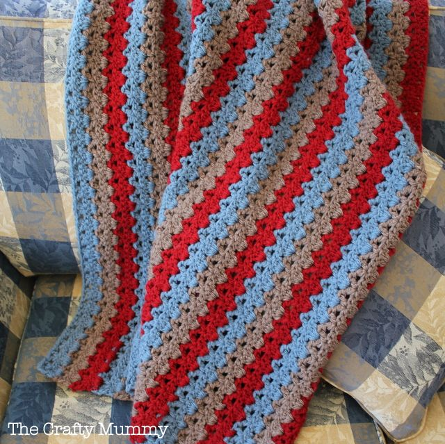 Baby Crochet Blanket Finished - made with Patons Inca yarn - so ...