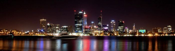Perth City at night by LT243