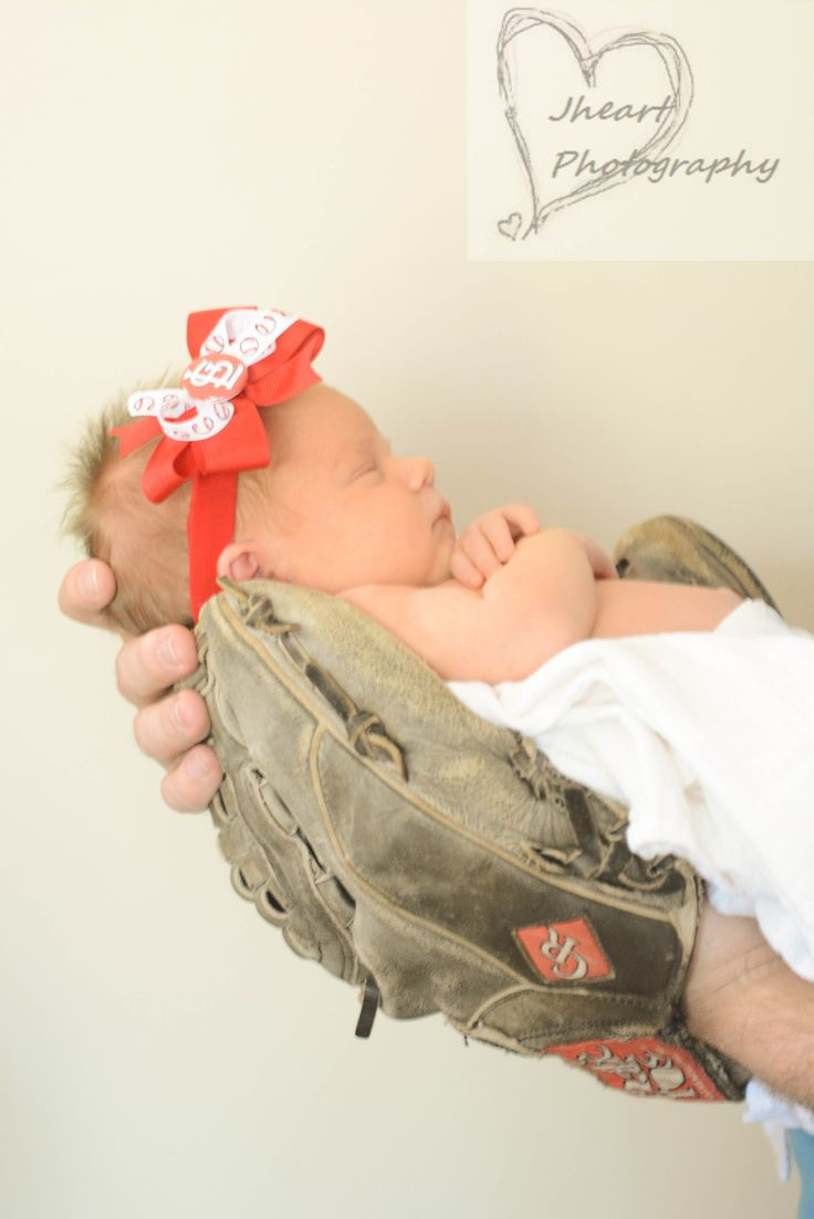 baby newborn baseball photography cardinals