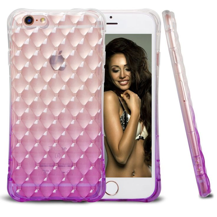 iPhone 6 Case, iPhone 6S Case, AUMI Shockproof Colorful Clear Shell Slim Case Translucent Impact Resistant Flexible TPU Soft Bumper Case Protective Shell for Apple iPhone 6/6S 4.7 inch(Purple). The color changing gradually, this case looks stylish yet sho
