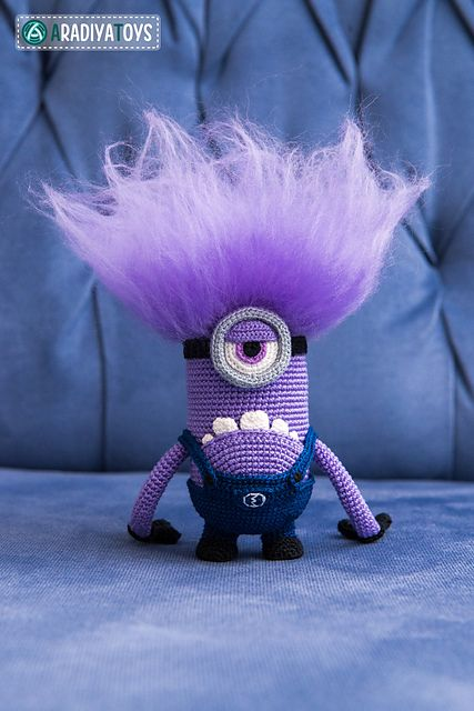 "Ravelry: Evil Minion from ""Despicable Me"" pattern by Olka Novitskaya"