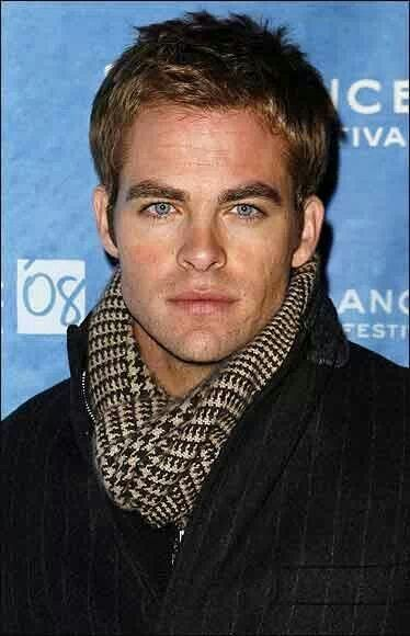 When did eyes ever come in that shade of blue, she wondered. -The Bootlegger's Wife  (Chris Pine.)