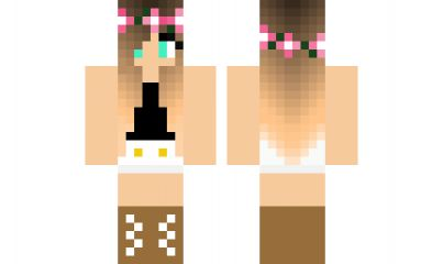 minecraft skin cute-girl Find it with our new Android Minecraft Skins App: https://play.google.com/store/apps/details?id=the.gecko.girlskins