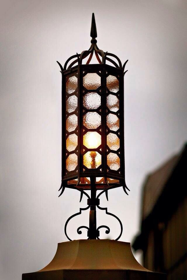 Light fitting - steel and glass