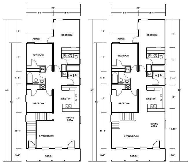 133 best shotgun house plans images on pinterest small for Shotgun home floor plans
