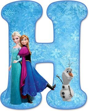 Alfabeto de Ana, Elsa y Olaf de Frozen.