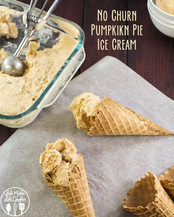 Pumpkin pie ice cream - This ice cream is no churn, and only has a few ingredients that you'll have in your pantry and tastes just like a delicious slice of pumpkin pie!
