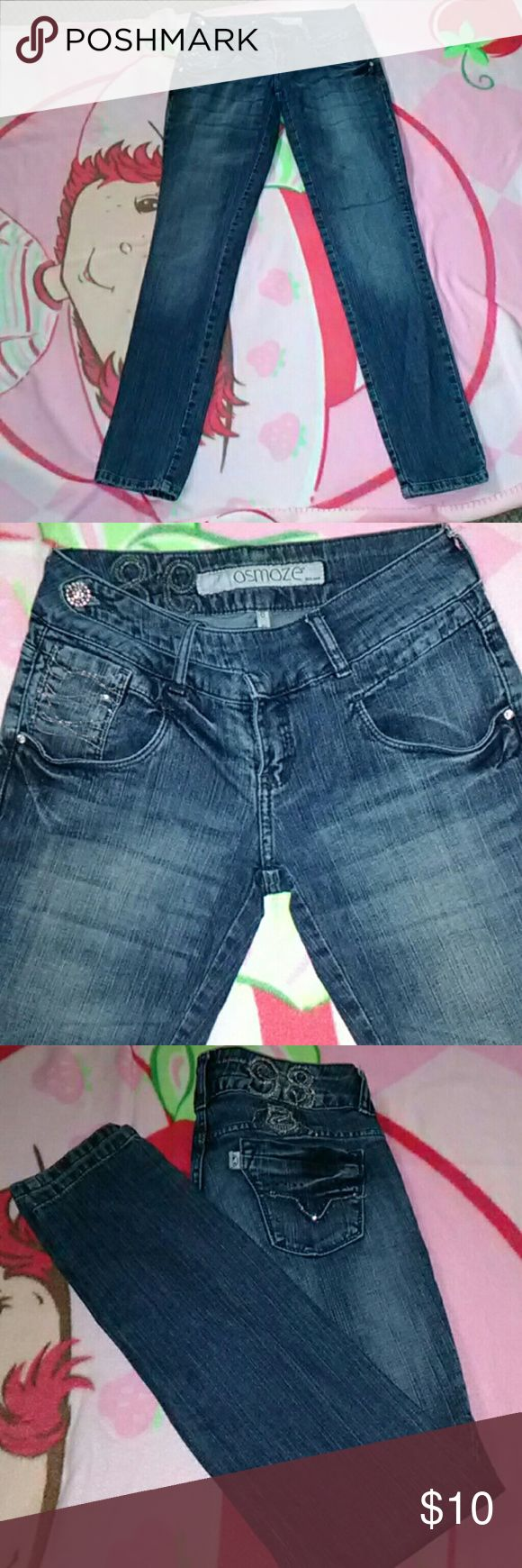 Ozmoze Cute jeans ozmoze  Brazil jeans.. Bought off here but to small for me!!  There size 36 ...size 36 is like a size 3/4.. I wear 5/6 n these r to small.. There so cute tho osmoze Jeans Skinny